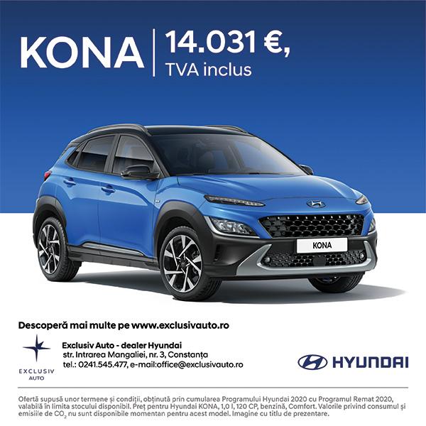 Hyundai KONA prin programul Remat